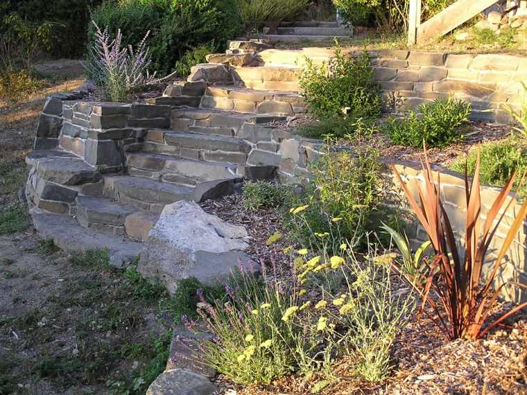 diseno jardines terrazas escaleras plantas opciones ideas