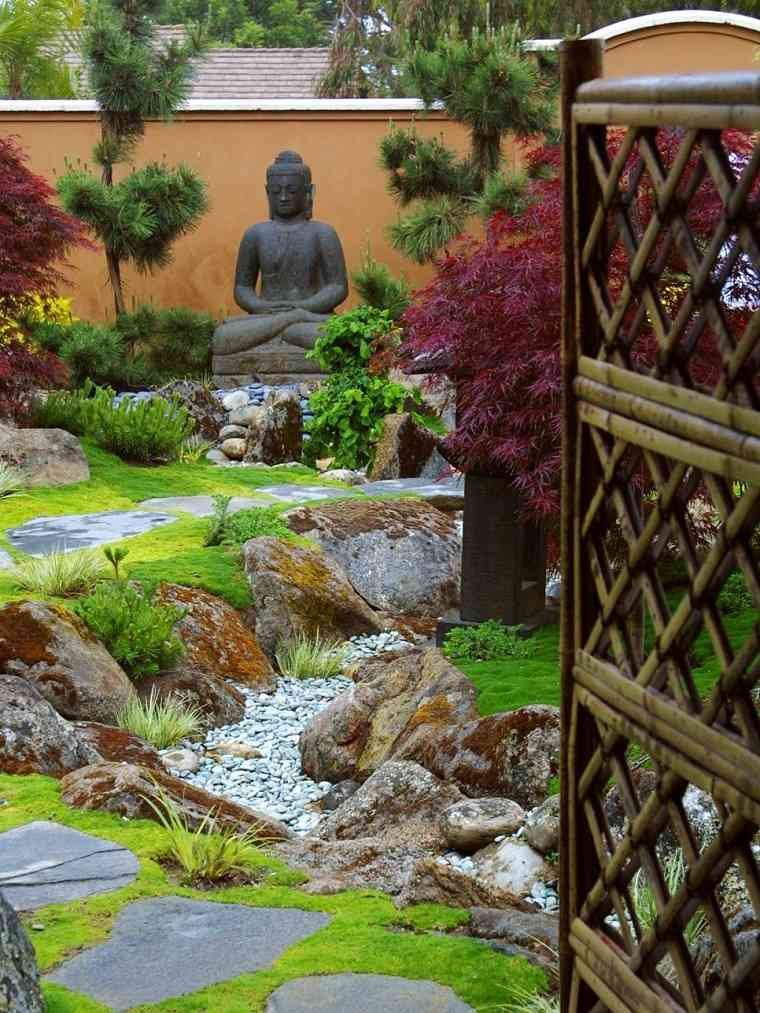 diseno jardines terrazas estilo japones zen ideas