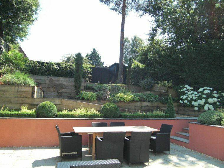 diseno jardines terrazas muebles rattan ideas