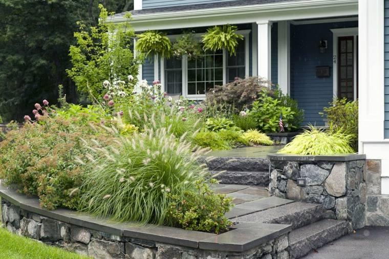 diseno jardines terrazas plantas entrada verde ideas