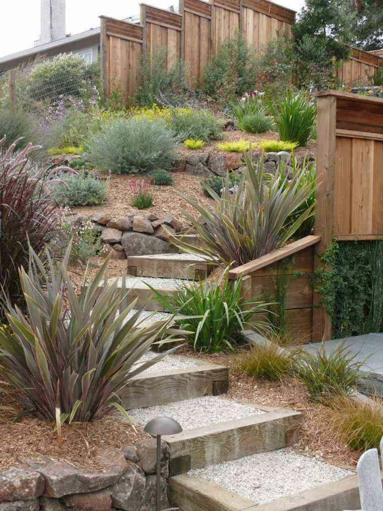 diseno jardines terrazas plantas ideas piedra ideas
