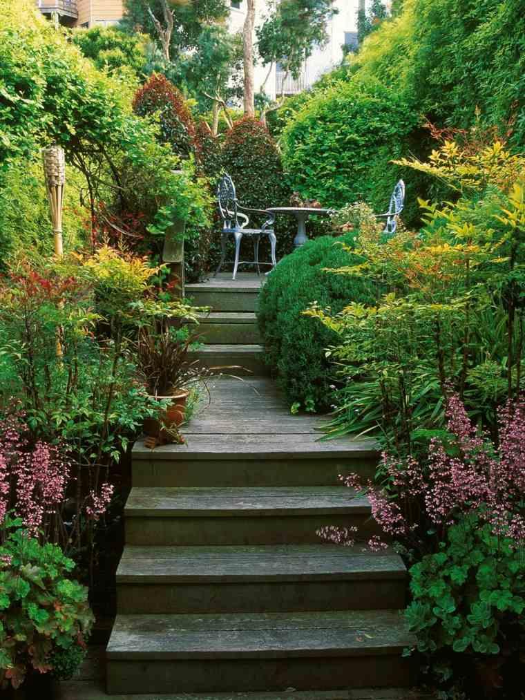 diseno jardines terrazas plantas lugar sillas mesa ideas