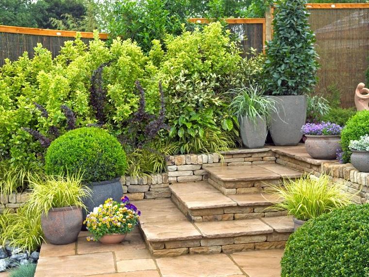 diseno jardines terrazas plantas macetas ideas