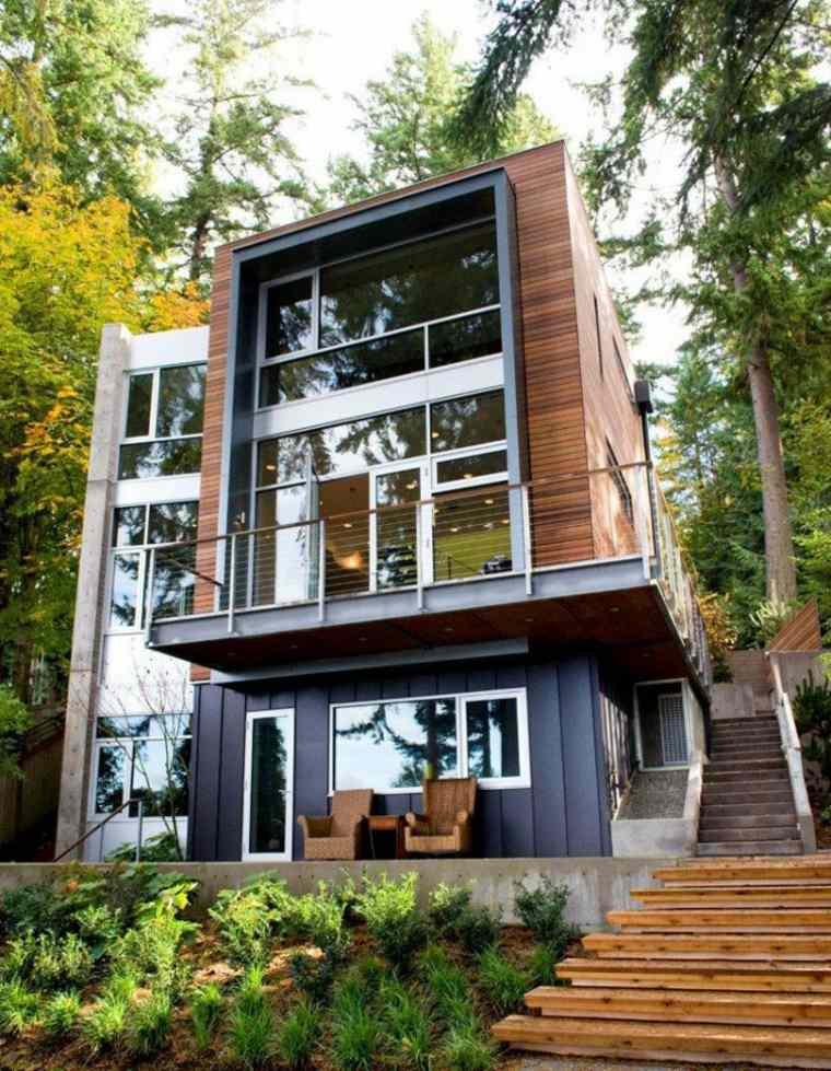 diseno jardines terrazas residencia bosque ideas