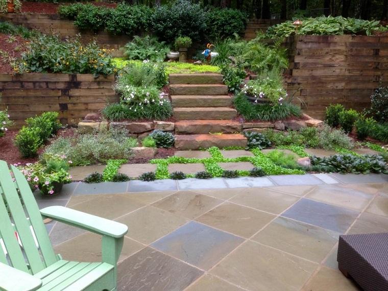 diseno jardines terrazas sillones descanso ideas