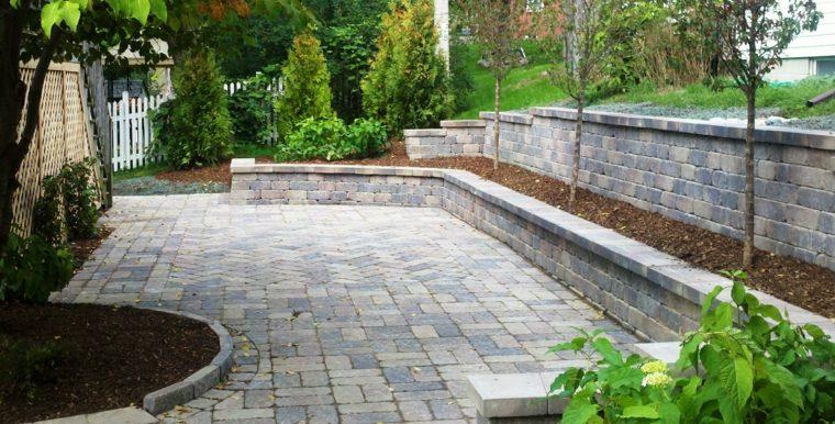 diseno jardines terrazas suelo piedra ideas