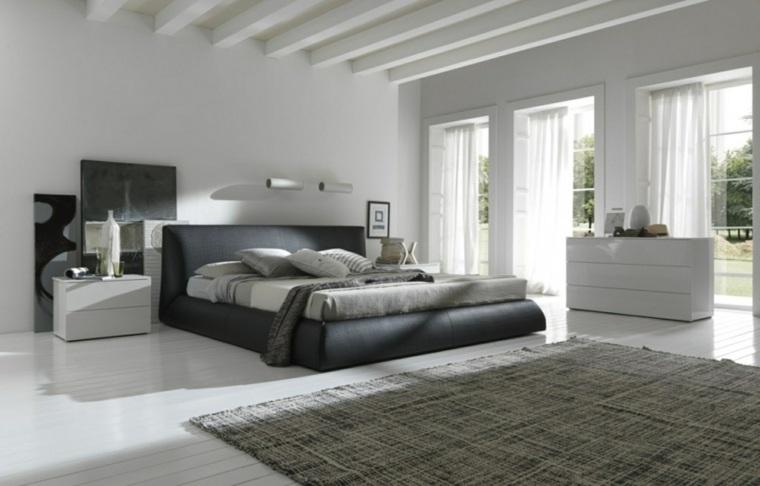 diseno minimalista interior alfombra oscura luminoso ideas