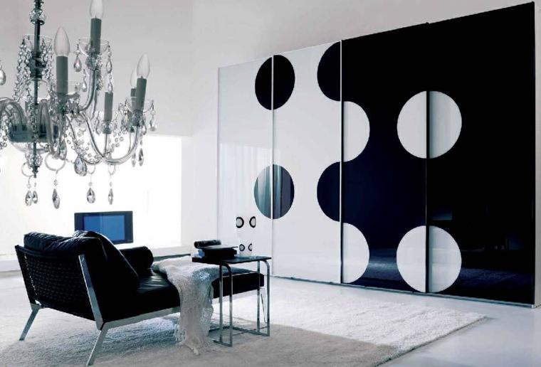 diseno minimalista interior armario original blanco negro ideas