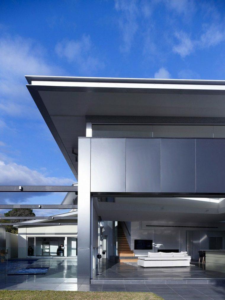 diseno minimalista interior casa salon abierto exterior ideas