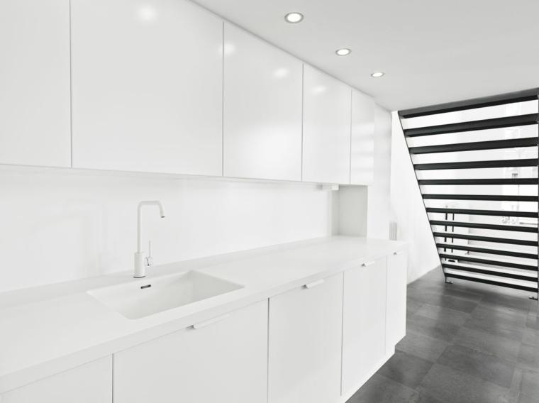 diseno minimalista interior cocina blanca preciosa ideas