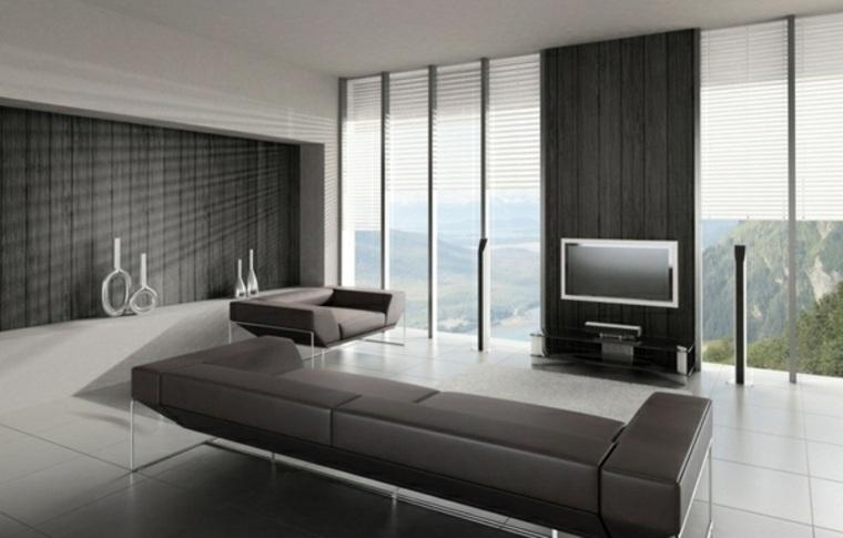 diseno minimalista interior color negro ideas