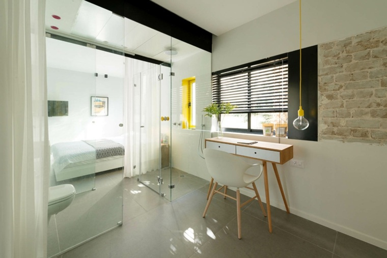 diseno minimalista interior escritorio original madera ideas