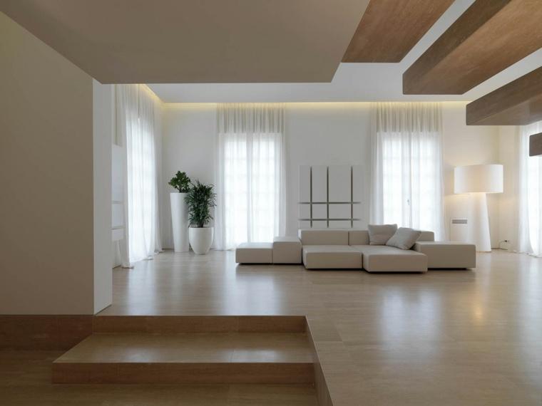 diseno minimalista interior macetas decorativas ideas