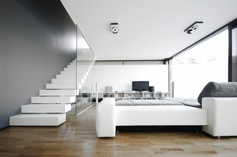 Interiores minimalistas 85 habitaciones en blanco y negro for Diseno de interiores 2016