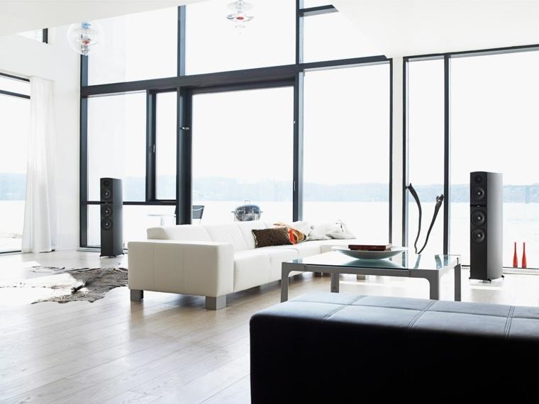 diseno minimalista interior ventanales salon blanco ideas