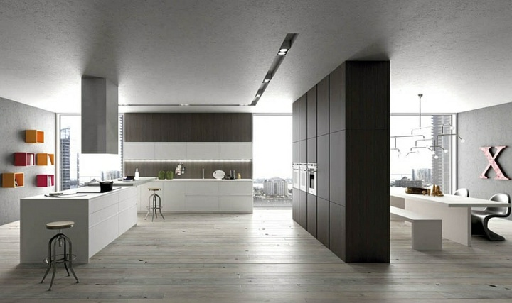 Imagenes cocinas modernas y funcionales que son tendencia for Divisiones para sala y cocina