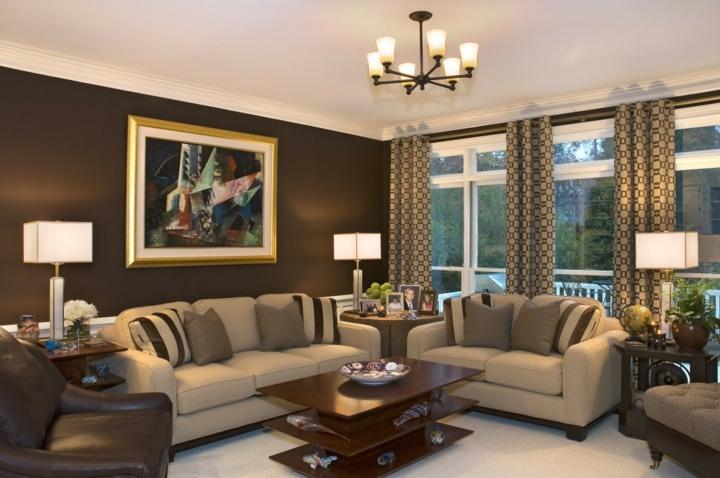 dorados elegantes salas muebles colores