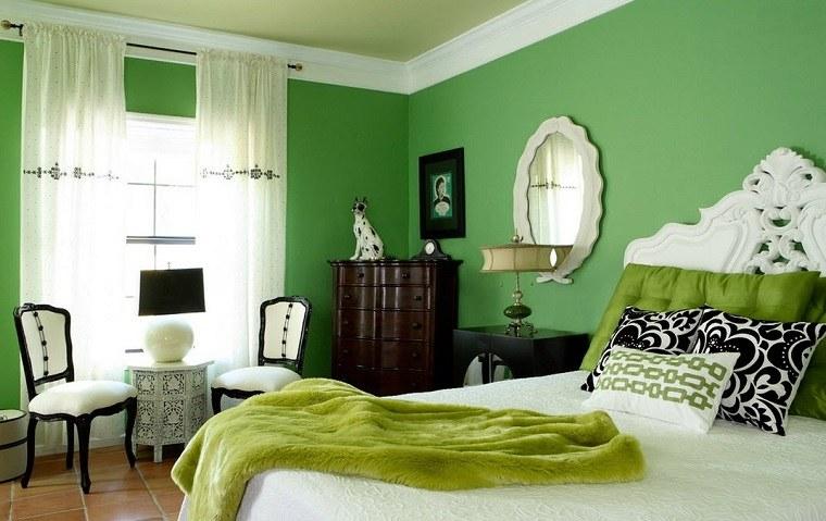 dormitorio-color-verde-estilo-moderno