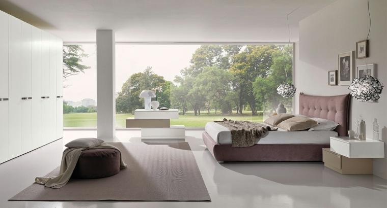 dormitorio moderno armario blanco grande ideas