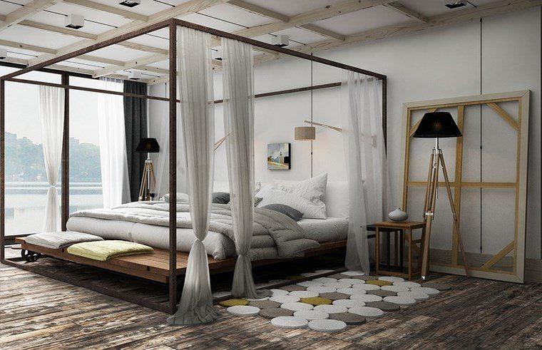 dormitorio moderno cama dosel grande ideas