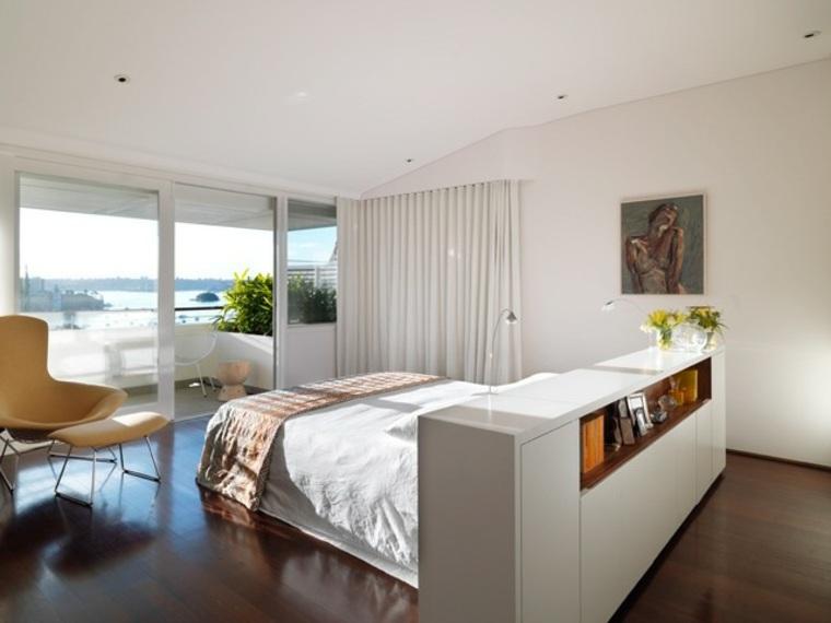 dormitorio moderno cama medio habitacion ideas
