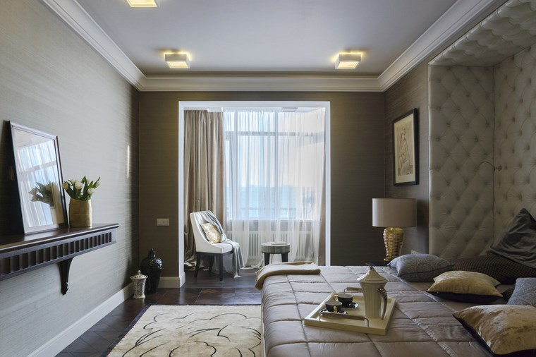 dormitorio moderno color beige elegante ideas
