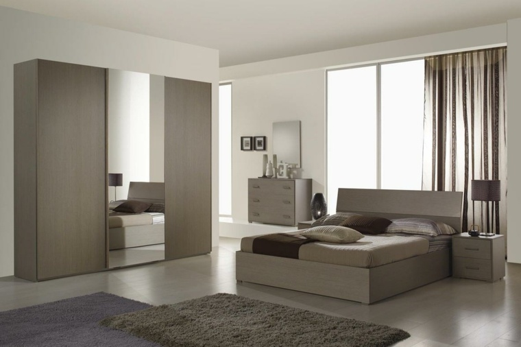 dormitorio moderno diseno simple armario grande ideas