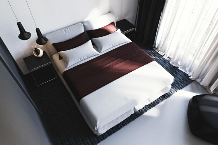 dormitorio moderno estrecho cama grande ideas