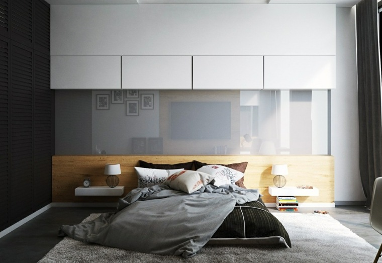 dormitorio moderno inspiraciones diseno pared ideas