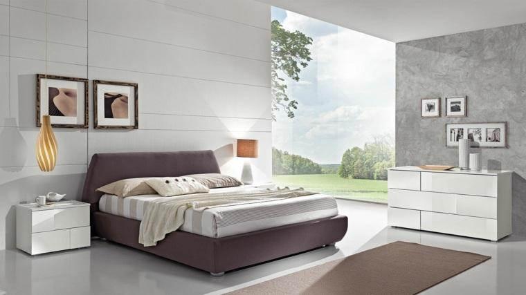 dormitorio moderno luminoso muebles blancos ideas