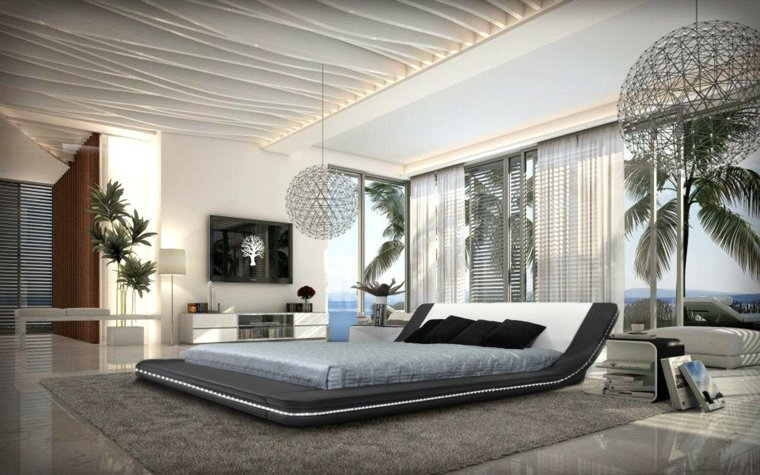 dormitorio moderno moderno lujoso vistas ideas