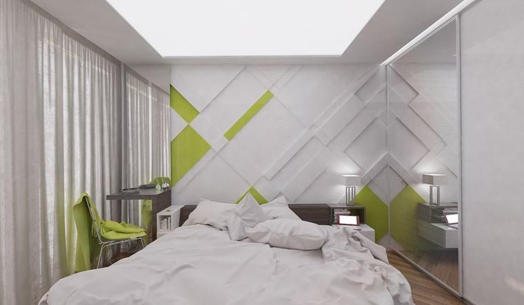 dormitorio moderno pared blanco negro ideas