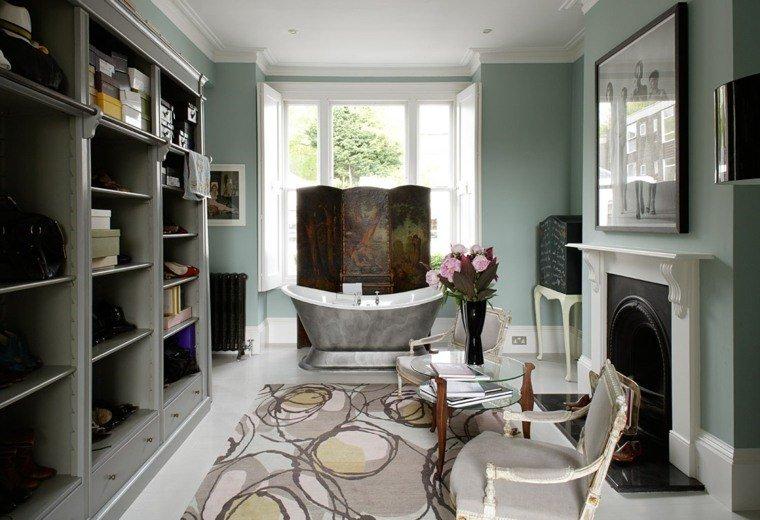 dormitorios con vestidor y baño banera acero ideas