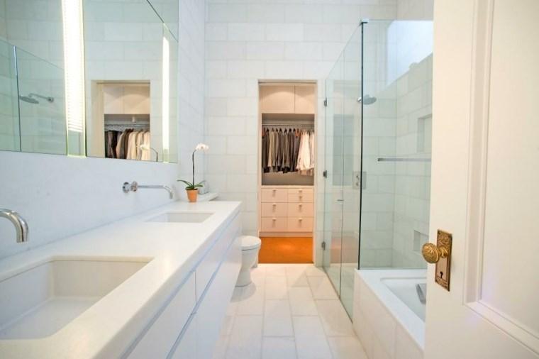dormitorios con vestidor y baño blanco moderno ideas