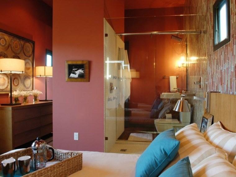 dormitorios con vestidor y baño color paredes ideas
