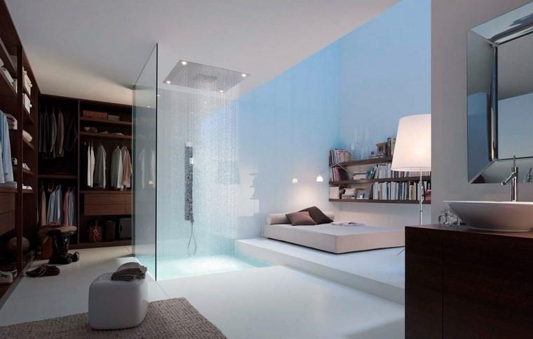 dormitorios vestidor bano estantes ideas