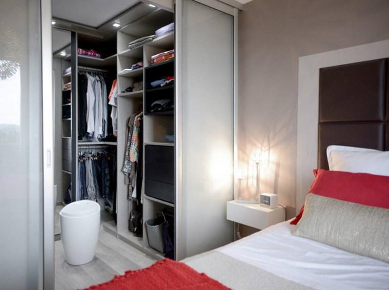 dormitorios vestidor o bano madera gris estantes ideas