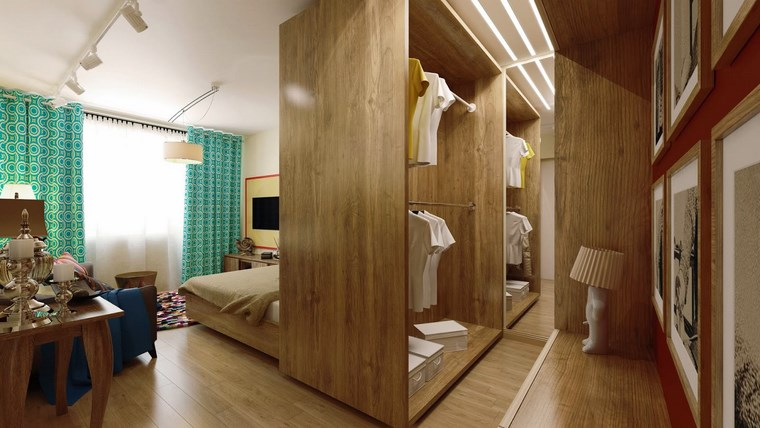 dormitorios vestidor bano madera natural ideas