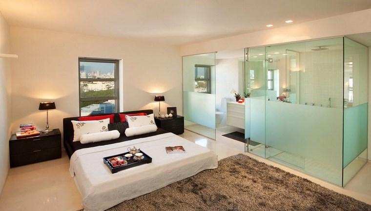dormitorios con vestidor bano mamparas cristal ideas