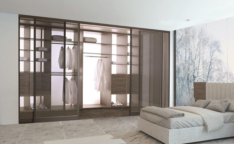 dormitorios vestidor bano puertas cristal ideas