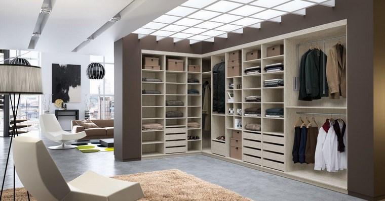 dormitorios vestidor bano sillon beige armarios ideas