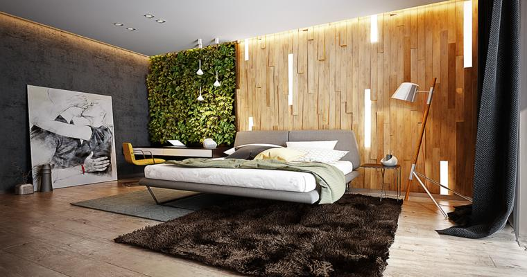 diseño dormitorio jardín vertical