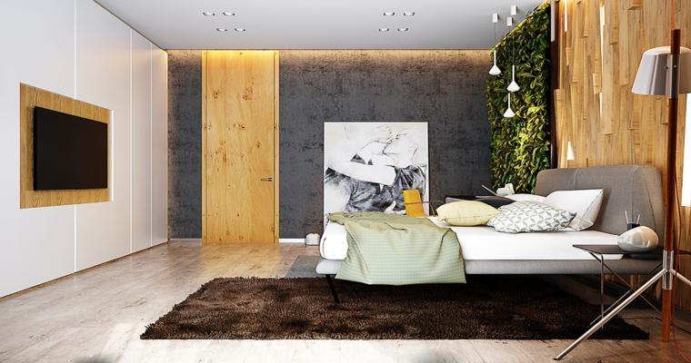 Dormitorios de dise o siete habitaciones de estilo moderno for Diseno 3d habitaciones