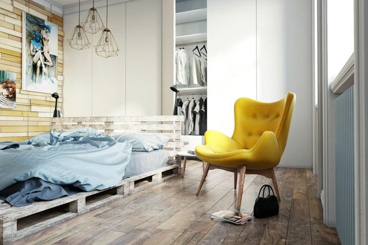 dormitorios decoracion moderna amarillo sillon ideas