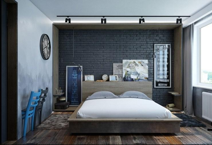 dormitorios decoracion moderna azules transitos cabeceros