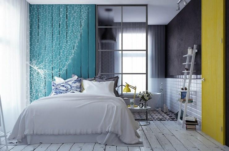 dormitorios decoracion moderna cortinas cristales blancos