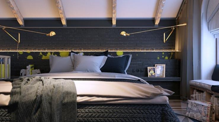 dormitorios decoracion moderna cuadros sabanas vigas