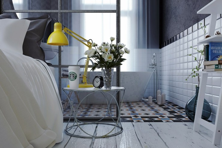 dormitorios decoracion moderna grises baños flores
