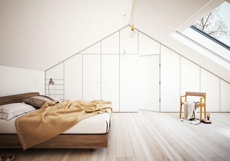 dormitorios decoracion moderna grises pendientes suelos sillas
