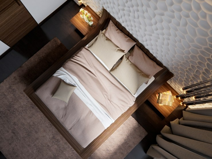 dormitorios decoracion moderna grises pendientes blanco